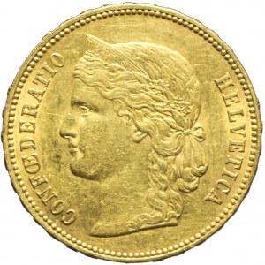 Szwajcaria, 20 franków 1894 B, Berno