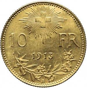 Szwajcaria, 10 franków 1913 B, Berno