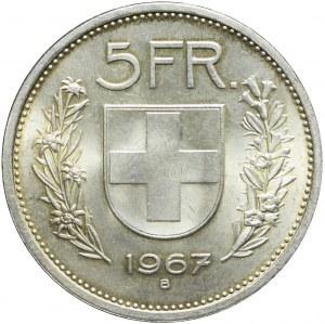 Szwajcaria, 5 franków 1967 B, Berno, mennicze