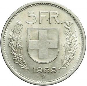 Szwajcaria, 5 franków 1969 B, Berno, mennicze
