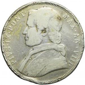 Watykan, Pius IX, 5 lirów 1854 R, Rzym