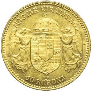 Węgry, Franciszek Józef, 10 koron 1911, Kremnica