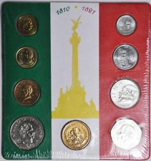 Zestaw 9 szt. monet, Meksyk