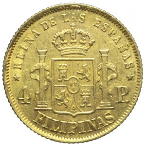 Filipiny, Izabela II, 4 peso 1868