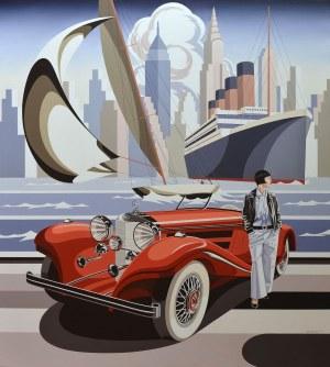 Tomasz Kostecki (ur. 1964), Kobieta i czerwony Mercedes, 2020