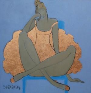 Joanna Sarapata, Ballerina na niebieskim fotelu, 2020