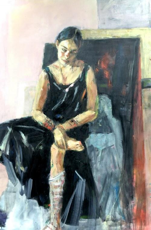 Olga Bukowska, Wyciągająca drzazgę, 2020