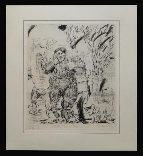 Edward Dwurnik, Człowiek ze świnią, 1985