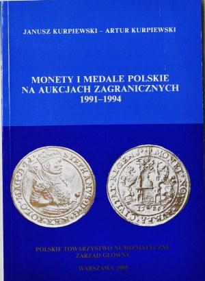 J i A Kurpiewski, Monety Polskie na aukcjach 1991-1994