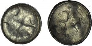 2 szt. Saksonia, Biskupi sascy, obole krzyżowe, X w.