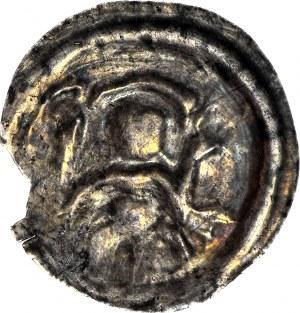 R-, Polska dzielnicowa, Henryk I Brodaty 1201-1238 lub Henryk II Pobożny 1238-1241, Brakteat ratajski, Postać, R3