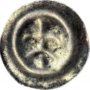 R-, Świętopełk II Wielki 1220-1266, Brakteat gdański, Lilia na arkadzie, R4