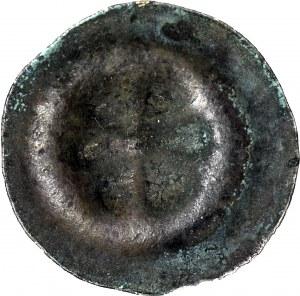 R-, Pomorze zachodnie, Brakteat XIII-XIVw., Stargard, sześcioramienna gwiazda