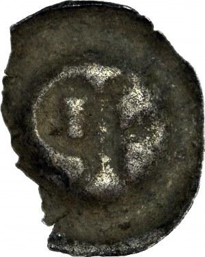 RR-, Ks. Opawskie i Karniowskie, Przemko I 1381-1433, Brakteat, fragment lilii i litera P