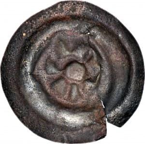 RR-, Dolny Śląsk, Obol lub szeroki brakteat 21mm, 2. poł. XIII w., Rozeta lub kwiat 6-listny