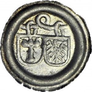 R-, Śląsk, Księstwo Głogowskie - Joachim Brandenburski, Brakteat po 1510 roku, Krosno, typ pierwszy