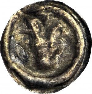 RR-, Dolny Śląsk, Brakteat mały, 2. poł. XIII w., Głowa wołu