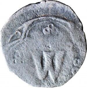 RRR-, Władysław Opolczyk, 1372-1378, Puło, małe W pod koroną, Lwów