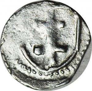 R-, Jadwiga i Władysław Jagiełło 1386-1399, Denar, Wschowa, R6