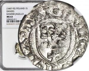 Kazimierz IV Jagiellończyk, Szeląg, Gdańsk, menniczy