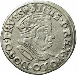 RR-, Zygmunt I Stary, Trojak 1546, Gdańsk, nienotowany