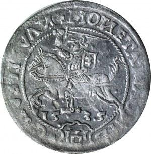 R-, Zygmunt I Stary, Grosz 1535, Wilno, odwrócone litery N