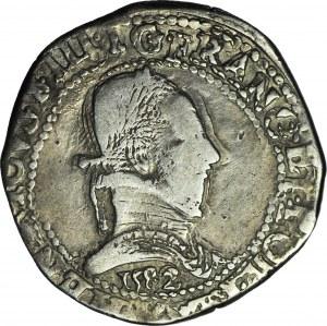 R-, Henryk Walezy, Król Polski, Frank 1582, data pod popiersiem