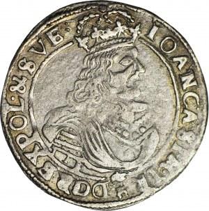 RRR-, Jan Kazimierz, Ort 1667, typ bydgoski, naśladownictwo w dobrym srebrze
