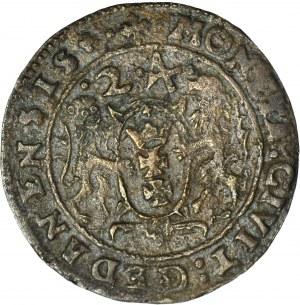 RR-, Zygmunt III Waza, Ort 1624, typ gdański, fałszerstwo z epoki