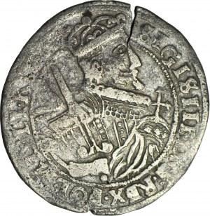 RR-, Zygmunt III Waza, Ort 1624, typ bydgoski, fałszerstwo z epoki w słabym srebrze