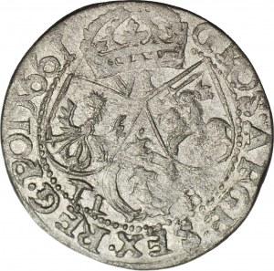 RR-, Jan Kazimierz, Szóstak 1661 TL-B, typ krakowski, naśladownictwo w dobrym srebrze