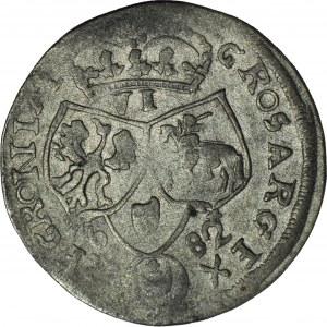 RRR-, Jan III Sobieski, Szóstak 1682 z tytulaturą Fryderyka Wilhelma, naśladownictwo w dobrym srebrze