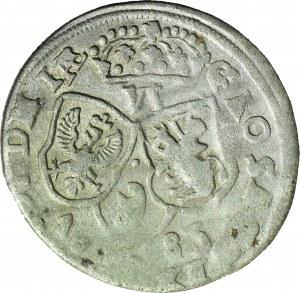 RRR-, Jan III Sobieski, Szóstak 1683, typ bydgoski, naśladownictwo w dobrym srebrze