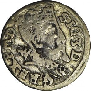 RR-, Zygmunt III Waza, Trojak 1599, anomalny lub naśladownictwo w dobrym srebrze