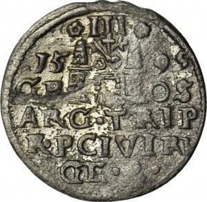 RR-, Zygmunt III Waza, Trojak 1599 Ryga, naśladownictwo w srebrze
