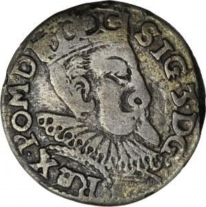 RR-, Zygmunt III Waza, Trojak 1601, typ olkuski, anomalny lub naśladownictwo w dobrym srebrze