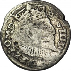 RR-, Zygmunt III Waza, Trojak 1602, anomalny lub naśladownictwo w dobrym srebrze