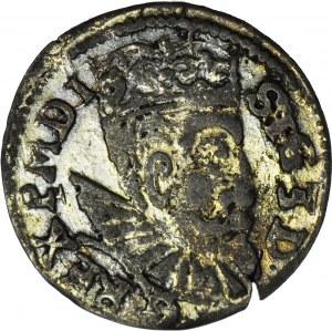 RR-, Zygmunt III Waza, Trojak 1603, anomalny lub naśladownictwo w dobrym srebrze