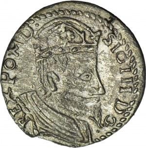 RRR-, Zygmunt III Waza, Trojak bez daty, typ olkuski?, naśladownictwo w dobrym srebrze