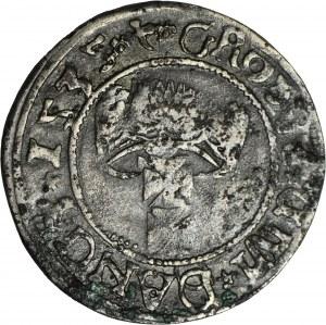RR-, Zygmunt I Stary, Grosz Gdańsk 1535, fałszerstwo z epoki w srebrze
