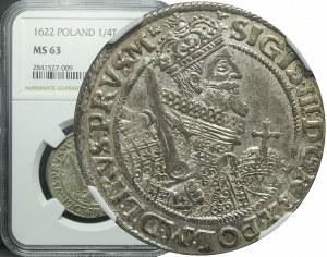 Zygmunt III Waza, Ort 1622, Bydgoszcz, PRVS.M, piękny