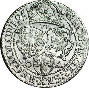 Zygmunt III Waza, Szóstak 1596, Malbork, menniczy