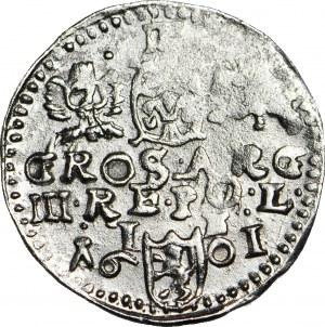 R-, Zygmunt III Waza, Trojak 1596, Lublin,