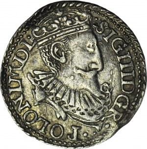 RRR-, Zygmunt III Waza, Trojak 1598, Olkusz, płaska korona, nienotowany