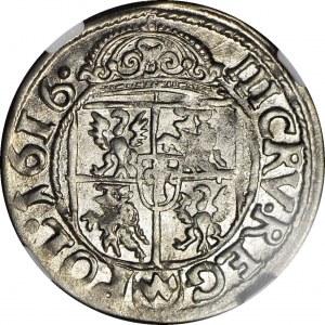 RRR-, Zygmunt III, Trzykrucierzówka 1616 Kraków, odwrócone 3