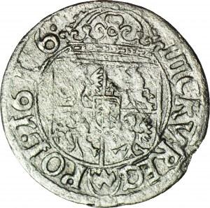 RRR-, Zygmunt III, Trzykrucierzówka 1616 Wadwicz, Kraków, podwójna tarcza z nominałem