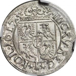Zygmunt III Waza, Trzykrucierzówka 1617 Kraków, R1