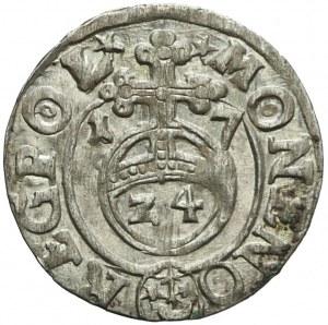 Zygmunt III Waza Półtorak 1617, Bydgoszcz, piękny