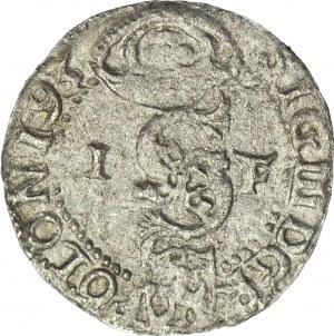 RRR-, Zygmunt III Waza, Szeląg 1593 Olkusz, błąd PO-ONI