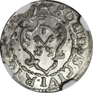 R-, Zygmunt III Waza, Szeląg 1609, Ryga, menniczy
